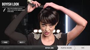 how to style short hair all combed forward how to create short hairstyles pixie boyish playful volume