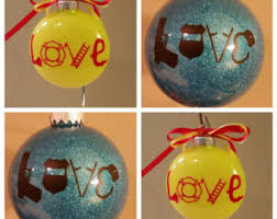glitter glass ornaments and fishing