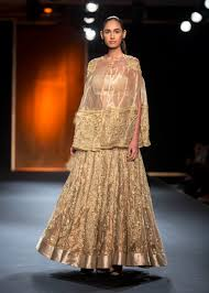 Cape Designs by Top Picks Hand Embroidered Gold Benarasi Lehenga With Long Hand