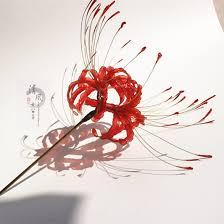 kanzashi hair pin higanbana manjusaka hairpin hair stick kanzashi for kimono jigoku