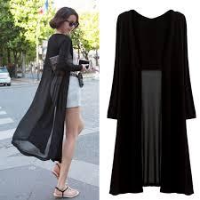 women summer chiffon sheer long cardigan clothes sun maxi
