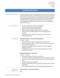 100 resume for network engineer with ccna systems