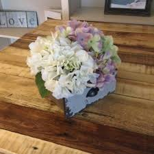 spring centerpiece floral centerpiece hydrangea centerpiece