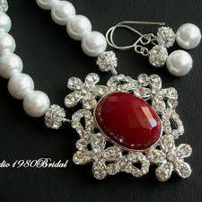 pearl swarovski crystal necklace images Buy bridal necklace earrings pearl necklace swarovski crystal jpg