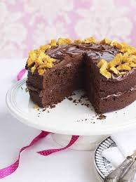 chocolate fudge cake with crunchie topping essentials