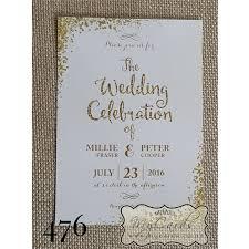 wedding invitations nz gold glitter confetti wedding invitation design 476 mycards
