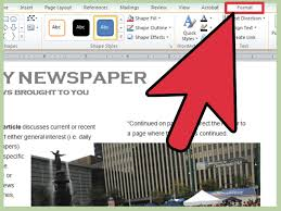 how to make a newspaper article template on microsoft word 2010