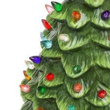 15 pre lit ceramic tabletop tree green best choice