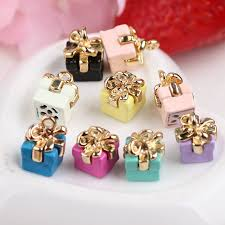 bracelet jewelry gift box images Wholesale 100pcs 3d birthday gift box diy charms fashion phone jpg