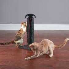 the feline u0027s laser chasing scratch post hammacher schlemmer