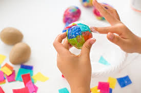 Easter Decorations With Tissue Paper by Hello Wonderful Sparkly Diy Glitter And Tissue Paper Easter Eggs