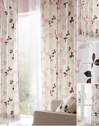 Pink And Grey Nursery Curtains Leaf Children Nursery Curtains Of Polyester
