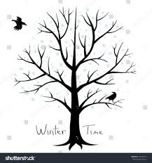winter tree crows stock vector 121042315
