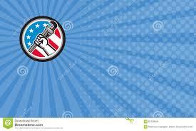 Blue Flag Stars In Circle Stars Plumbing Business Card Stock Illustration Illustration Of