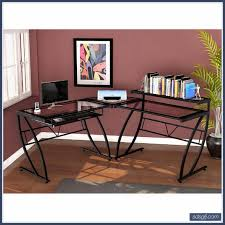 Z Line Belaire Glass L Shaped Computer Desk Computer Desk Archives Chairs Design