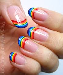 rainbow nails 19 rainbow nail art designs