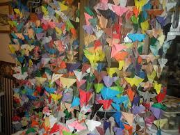 butterfly curtains and 1000 paper butterflies by joann abbott