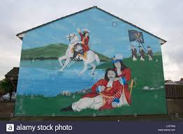 protestant wall painting of king billy belfast northern ireland king billy king james battle of the boyne loyalist wall mural painting west belfast northern ireland