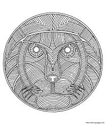free mandala difficult to print lion coloring pages printable