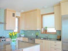 recycled glass backsplashes for kitchens kitchen with subway tile backsplash and oak cabinets