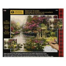 shop plaid plaid paint by number kinkade the garden