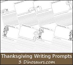 free thanksgiving writing prompts printable 3 dinosaurs