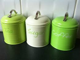 kitchen canisters green details lime green tea coffee sugar kitchen canister jar ins