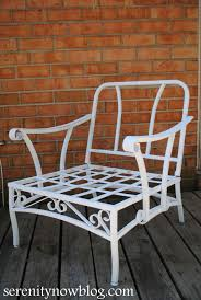 Antique Patio Chairs Serenity Now How To Clean And Paint Vintage Metal Patio Furniture