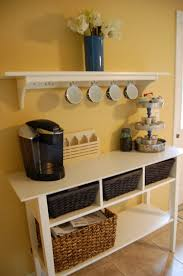 my pinterest inspired coffee bar the shelf and table are from
