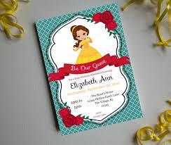 Princess Birthday Invitation Card A Belle U0027s Birthday Printable Invitation Birthday Party Invite