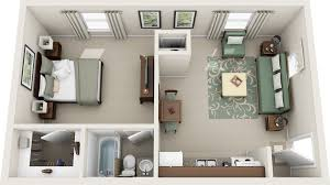 One Bedroom Apartments Floor Plans by Delighful 3d One Bedroom Apartment Floor Plans And Decorating Ideas