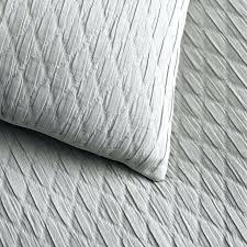 drift white quilt cover set modern chenille contemporary bedding