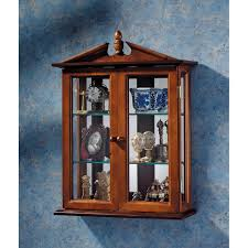 amazon com glass curio cabinets amesbury manor wall mounted