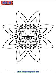 free printable mandala coloring pages simple star mandala