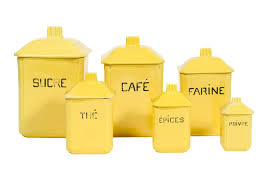 metal canisters kitchen yellow kitchen canisters glass canister set mustard blue and