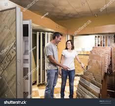 Bathroom Store Happy Couple Choosing Tile Bathroom Store Stock Photo 448662238
