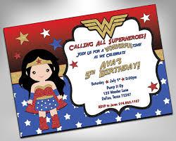 wonder woman invitation superhero birthday superhero girls party
