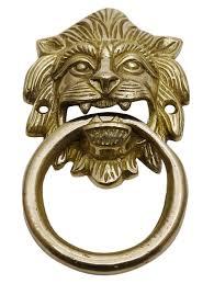 lion face brass door knocker decorative traditional home decors