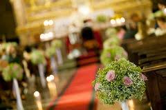 wedding flowers church beautiful wedding flowers inside a church stock photo image 5233980