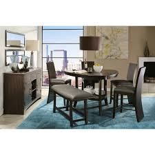 slate dining table set west ave dining counter height table 2 counter chairs bench