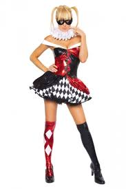 Halloween Costumes Harley Quinn Womens Color Block Harley Quinn Halloween Costume Red Pink