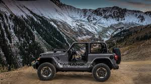 grey jeep rubicon 2018 jeep wrangler gets a splash of color in new renders