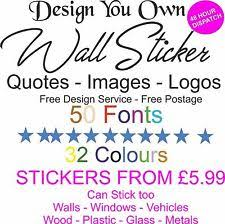 Design Your Own Wall Quote EBay - Design your own wall art stickers