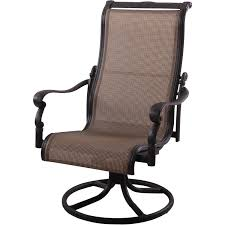 Wrought Iron Swivel Patio Chairs by Brown Webbing Swivel Rocker Patio Chair Using Black Painted Iron