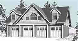 4 car garage with apartment above 4 car carriage house garage plan 2152 1 by behm design 48 x 24