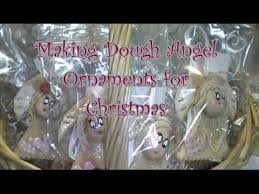 how to make salt dough angel ornaments for christmas youtube