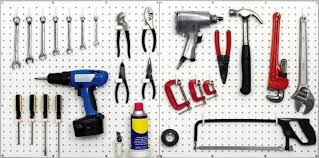 white pegboard kit wall storage workbench organizer peg board