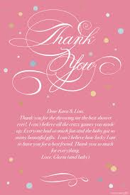 baby shower thank you message gallery baby shower ideas
