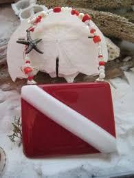 christmas ornament with iconic scuba diving flag scuba flag