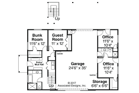 garage office plans office design garage plan with office 20 014 right elevation